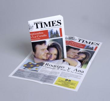 Invitatie de nunta tip pagina ziar TIMES