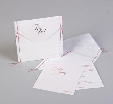Invitatie de nunta cu monograma