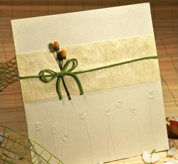 Invitatie nunta cu doi trandafiri in relief