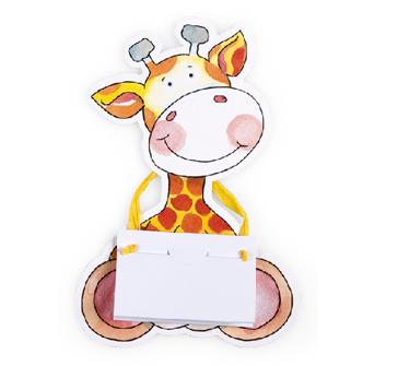 Invitatie de botez in forma de girafa