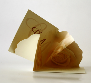 Invitatie de nunta cu trandafir