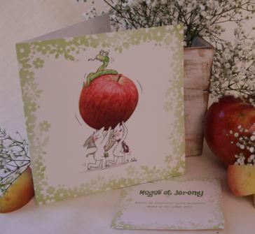 Invitatie de nunta cu Adam si Eva