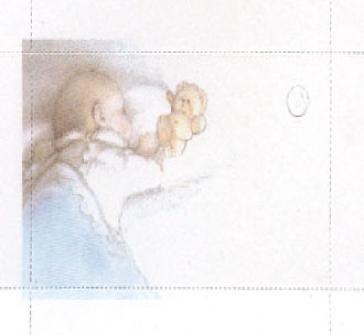 Carticele de botez cu un copilas care doarme
