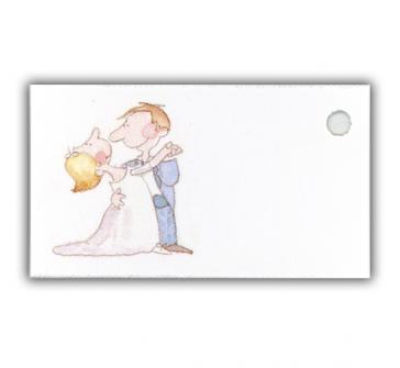 Carticele marturii nunta cu perechea care danseaza