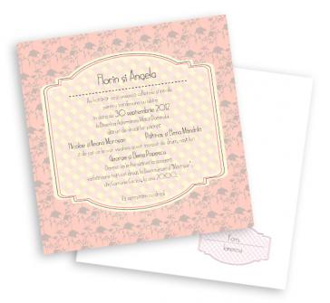 Invitatie de nunta retro