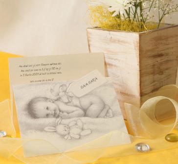 Invitatie bebelusul cadou