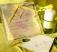 Invitatie nunta in tonuri verde pastel cu panglica verde
