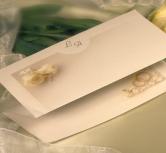 Invitatie nunta pastel, trandafiri albi colt stanga sus