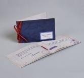 Invitatie nunta tip caiet retro