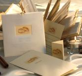 Invitatie de nunta sidef cu doua inele aurii