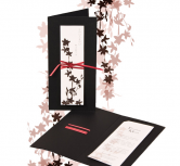 Invitatie de nunta stil japonez, negru