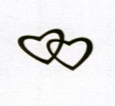 Sigilii aurii nunta in forma de inimioare