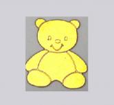 Sigilii botez aurii in forma de ursulet