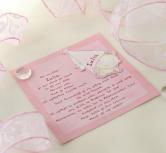 Invitatie botez cu coif roz