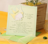 Invitatie bebe sub coroana