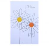 Meniu alb cu doua floricele BUSQUETS