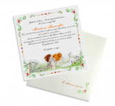 Invitatie de nunta Bride and Groom Kissing