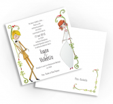 Invitatie de nunta - Bride and Groom Standing